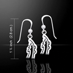 Reiki Symbol Silver Earrings 52-TER476