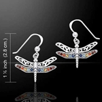 Dragonfly Silver Earrings 52-TER517