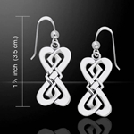 Danu Elegant Silver Celtic Knotwork Earrings 52-TER543