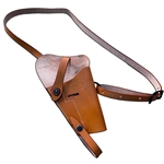 US M3 Leather Shoulder Holster for M1911A1 .45 - Russet WWII Repro