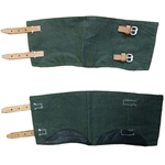 German WWII Green Canvas Anklets - Gaiters Reproduction 55-803126