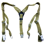 German DAK Canvas Combat Y Straps WWII Reproduction 55-80395