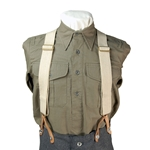WWI Canvas Trouser Suspenders