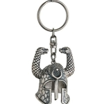 Miniature Conan the Barbarian Serpent Helmet Keyring 56-C302