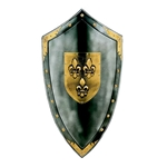Duchy of Anjou Shield of Fluer de Lys by Marto