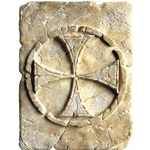 Tile with Templar Cross Patee by Marto 56-MHH002