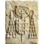 Wall Tile with Templar Cardinal Seal by Marto