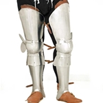 Medieval Leg Armour Harness With Shin Guards