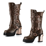 Steampunk Captain Boots In Brown