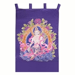White Tara Silk Wall Hanging 63-S4