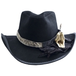 Dallas Leather Cowboy Hat with Rattlesnake Band