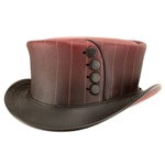 Spat in the Hat Leather Top Hat