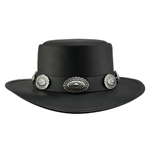 Black Leather Western Hat