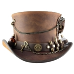The Time Hopper Leather Hat in Brown