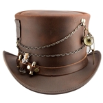 Trinket Leather Top Hat