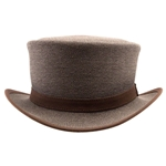 Uptown Canvas Top Hat in Brown
