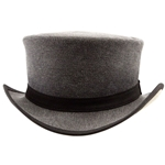 Uptown Canvas Top Hat in Charcoal
