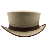 Uptown Canvas Top Hat in Tan