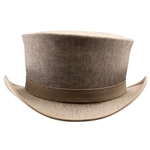 Uptown Canvas Top Hat in Bone