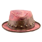 Fuchsia Leather Hat