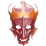 Demonic Leather LARP Helmet