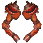 Leather Articulated Arm Armor Set