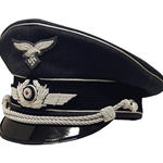 German Luftwaffe Officer Visor Cap Collectors Grade WWII - Silver