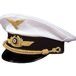 German Luftwaffe General Visor Cap Collector Grade White