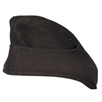 German M38 Panzer Overseas Side Cap - Black EM Enlisted - Repro
