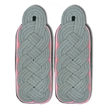Waffen SS Major - Colonel Shoulder Boards - Panzer - Pink Piped