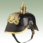 German Bavarian Infantry Helmet-WWI Leather Repro 720011