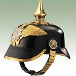 German Prussian Garde Infantry Helmet-WWI Leather Repro 720012