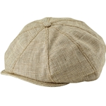 Plaid Linen Gatsby Cap