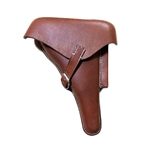 German WWII P-08 Luger Hardshell Holster Natural (Brown)