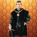 Duke of Suffolk Black Fur-Trimmed Cape 882024