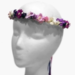 Mixed Floral Hair Wreath