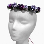 Wild Rose Wreath in Purple and Lavender
