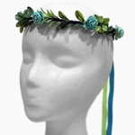 Turquoise Vine Rose Hair Wreath