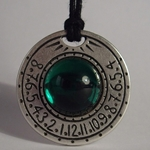 Sundial Necklace Emerald Green