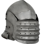 Medieval Bellows Face Sallet Helmet, Medium