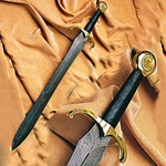 Damascus Leaf Blade Sword AH-3384
