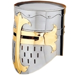 Norman Knight Helmet - Flat Top Great Helm AH-3831-N