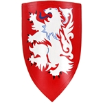 Wooden Heater Shield - White Lion Rampant