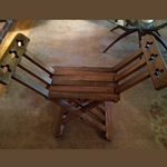 Roman Wooden Folding Stool AH-6019-W