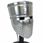 Templar Pot Helmet with Faceplate - 16 Gauge