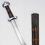 Five-Lobe Viking Sword with Suspension Loop Scabbard,Five Lobe Viking Sword