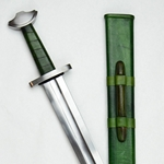 Viking Temple Sword - Green Grip,Viking Temple Sword,Viking Age Sword,Viking Sword,Viking Temple,Temple Sword