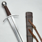 Knightly Arming Sword with adjustable hanging scabbard - Stage Combat Version ,Medieval Longsword - Stage Combat Version