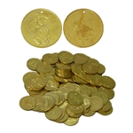 Brass Coins, Large, 35mm, 100 count  BBCL