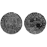 Charles the Bold Medieval Coin 1474 Eight Pence BI-190